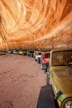 Very cool picture of a line of Jeeps