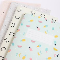 Image of Notebook Tropical - Grand Stationary School, Cute Stationary, School Stationery, Kawaii Stationery, Stationary Supplies, Diy Notebook, Notebook Design, Notebook Covers, Planners