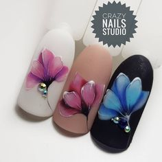 Nail Design For Fall. Creating impressive nail layouts it isn't just entertaining, but increasingly simple with simply easy equipment. Rose Nail Art, Floral Nail Art, Flower Nail Designs, Fall Nail Designs, Chic Nails, Stylish Nails, Nail Art Techniques, Nail Pictures, Crazy Nails