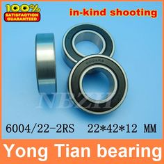 5.00$  Watch here - http://ali8pn.shopchina.info/go.php?t=1478071563 - Excavator bearing 6004/22-2RS 60/22-2RS 22*42*12mm Double Shielded Deep Ball Bearings Large breadth 5.00$ #magazineonlinewebsite