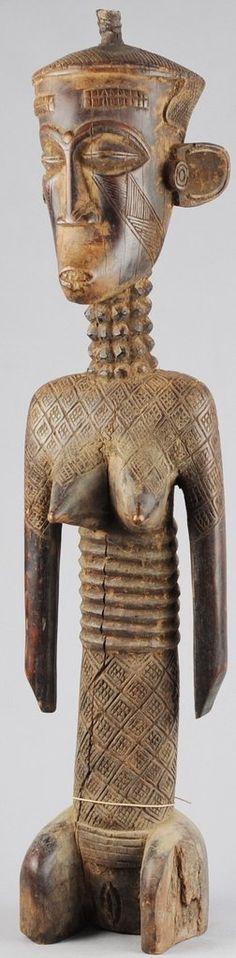 Rare grande statue Ndengese Congo Dengese large female figure MC0671 Afrivcan Tribal Art Africain Yaka #tribal #africanart Kuba