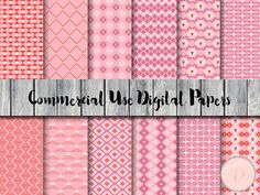 Pink Aztec Digital Paper Tribal Pattern Bohemian by MagicalStudio