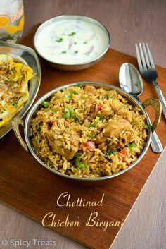 Spicy Treats: Chettinad Chicken Biryani / Seeraga Samba Chicken Biryani / Chettinad Style Chicken Biryani