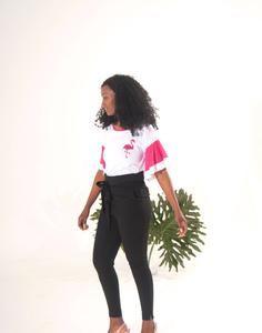 Flamingo Flare T-Shirt Color Pop, Colour, Shirt Sleeves, T Shirt, Statement Tees, Flamingo Print, Smoking, Flare, Ballet Skirt