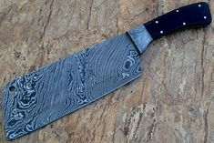 We have the highest quality handle materials and superior leathers to bring these impeccably made knives and sheaths to our market. HOW OUR DAMASCUS IS MADE: All our Damascus is real and not just an acid etch.