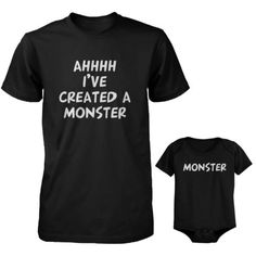 Daddy-T-Shirt-and-Baby-Onesie-Matching-Set-Ahhh-Ive-Created-A-Monster