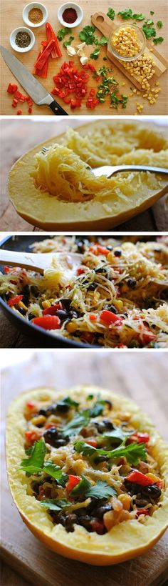 SOUTHWESTERN STUFFED SPAGHETTI SQUASH | Homemade Food Recipes