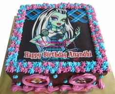 monster high frankie stein birthday cake | Monster High Birthday Cakes for Girls