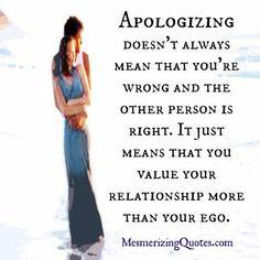 Apologizing..