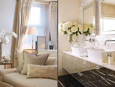 Bayswater Penthouse Apartment - Master Bedroom and Bathroom - Interior Design by Intarya – Interior Design by Intarya