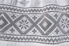 Hardanger embroidery (Hardangersøm) is a traditional Norwegian embroidery. Originally, it was used on the lace aprons worn by women on special occasions. Many seamstresses still make aprons for the Hardanger bunad (folk costume), requiring skilled and time-consuming work.