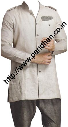 Marvelous style long sleeve linen kurta. We are using pure linen fabric for this tunic style linen shirts. It is the best fabric which you can use in summer or for beach wedding.