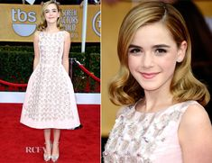 Kiernan Shipka may be Little Sally Draper on Mad Men, but she is looking like a leading lady at the #SAGawards