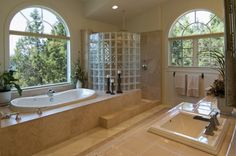 Luxury Glass Showers #canadianmortgagesinc #bathroom