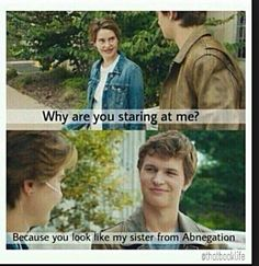 Shailene Woodley and Ansel Elgort. So funny!