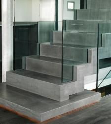 Glass Railing In Elevation Google Search Escalier Beton Cire