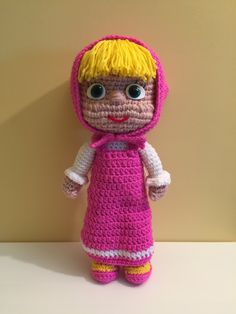 Masha Amigurumi prima parte (tutorial)/How to crochet Masha Amigurumi