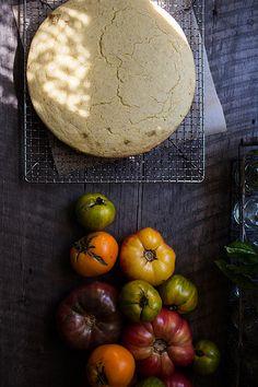Buttermilk cornbread + heirloom tomatoes by Beth Kirby | {local milk}