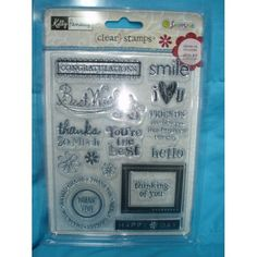 Kelly Panacci Clear Stamps Rubber Stamps  Sentiments by AkornShop, $9.95