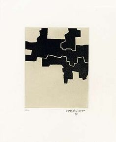 Eduardo Chillida (1924-2002), Gaur II, 1968. Etching and aquatint. Plate size: 21.8cm H x 17.3cm W. Sheet size: 56.7cm H x 45cm W. Edition of 50 copies.