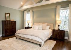 Master Bedroom #bedroom #exposedbeams #customhome #rockwellcustom #interior #master
