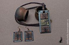 """Купить Комплект """"Три металла 3"""" - разноцветный, медь, бронза, серебро, купить украшения"""