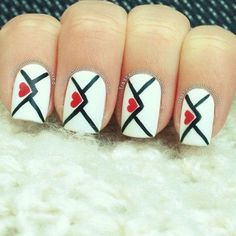 Love letters #valentines #naildesigns
