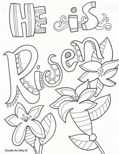 Easter Coloring Page For Kids,