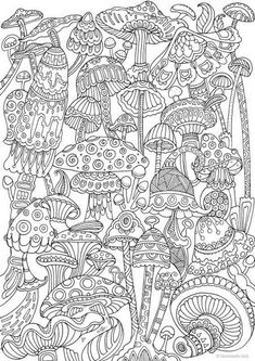 Coloring Books for Adults Inspirational Mushrooms Printable Adult Coloring Page From Favoreads Coloring Book Pages for Adults and Kids Coloring Sheets Coloring Designs Detailed Coloring Pages, Printable Adult Coloring Pages, Cute Coloring Pages, Doodle Coloring, Mandala Coloring, Coloring Books, Kids Coloring, Adult Colouring In, Colouring Pages For Adults