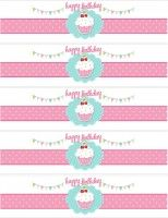 cupcake water bottle labels
