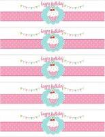 cupcake water bottle labels