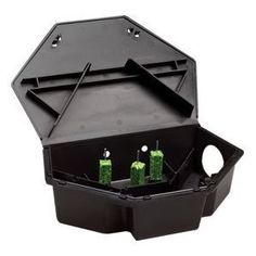 "Protecta LP Rat Bait Station by Bell. $12.99. The Protecta LP rat bait station locks automatically when closed and uses a special 2-prong key to open.. Its ""Low Profile"" makes it ideal to use indoors under pallets and in other tight baiting locations. Dimensions: 13"" across by 9"" Deep by 3 and 3/8"". One key is included with each case.. The Protecta LP rat bait station is a triangular shaped bait station that fits in corners and along walls where rodents travel.. ..."