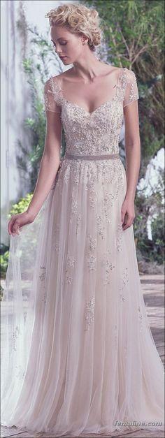 123 short sleeve wedding dress trend 2017 (95)