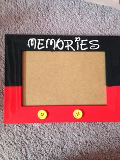 diy mickey mouse frame 100 wooden frame from craft store 50 cent acrylic paints - Mickey Mouse Picture Frames