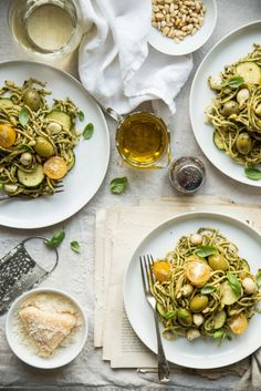 Bea's favourite PASTA with tons of green pesto.Food photography and styling.Bea's cookbook.