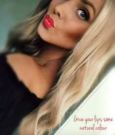 Love these lips with lipstick from Lily Lolo