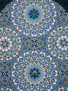 Mosaic Detail of Hassan Ii Mosque, Casablanca, Morocco Photographic Print