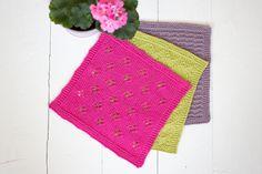 Neulotut tiskirätit – kolme ohjetta – Pariton rasa Crochet Bikini, Knit Crochet, Crochet Patterns, Diy, Kissa, Knitting Ideas, Bricolage, Crochet Pattern, Ganchillo