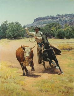 Bill Owen ~ The Cowboy Artist O Cowboy, Cowboy Horse, Real Cowboys, Cowboys And Indians, Cowboy Artwork, Cowboy Pictures, West Art, Le Far West, Country Art