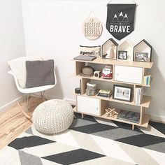 More lovely styling featuring the new @kmartaus rug and the new 'Be Brave' pennant by one of IGs most style savvy- @the_4224_collective. I'm also quite jelly of that Aldi shelf! Thanks for tagging me, I adore your feed