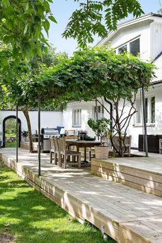 Outdoor living room ideas to expand your living space ., Outdoor living room ideas to expand your living space . # extension Even though ancient inside thought, this pergola has become enduring a present day renaissance all these days. Small Backyard Landscaping, Backyard Patio, Landscaping Ideas, Patio Ideas, Patio Wall, Garden Ideas, Landscape Design, Garden Design, Pergola Diy
