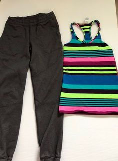 Lot of 2 shorts 1 leggings 1 jacket 1 tank 1 long sleeve and 1 athlete girl long sleeve. Teen Fashion, Size 10, Sweatpants, Makeup, Clothes, Accessories, Shoes, Ebay, Teenager Fashion