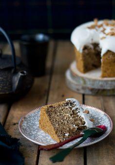 Delicioso pastel de sirope de arce, esponjoso y fácil de preparar.