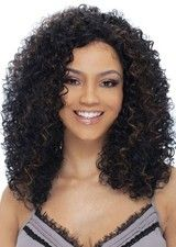Perfect Black Mid-length Curly African American Wig