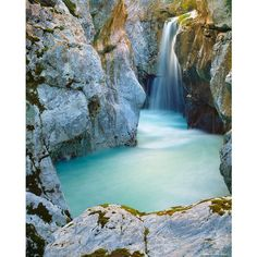 Soca Waterfall ❤ liked on Polyvore featuring backgrounds, pictures, pics, photos, waterfalls and scenery