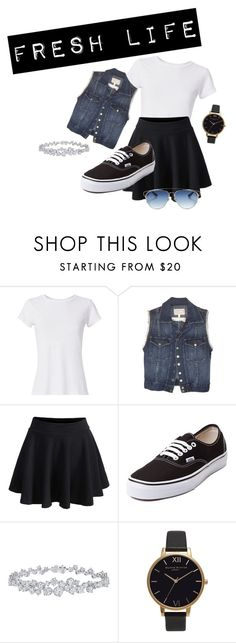 """""""Fresh Life"""" by marianayasmin on Polyvore featuring RE/DONE, Current/Elliott, WithChic, Vans, Harry Winston, Olivia Burton and Christian Dior"""
