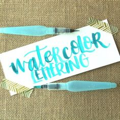 Watercolor Brush Lettering with a Water Brush