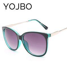 5609f826354 YOJBO Oversized Sunglasses Women 2017 Fashion Ladies Vintage Retro Brand  Designer Round Female Glasses De Sol