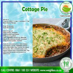 Potato Recipes, Meat Recipes, Chicken Recipes, Recipies, Cooking Recipes, Healthy Recipes, Healthy Meals, Homemade Banana Bread, Cottage Pie