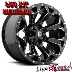 "4 New Fuel Assault D576 Gloss Black 20x10"" 6x135 / 6x5.5 Rims / Wheels -22 · $1,228.00 20 Inch Rims, 20 Rims, Rims And Tires, Jeep Wheels And Tires, Fuel Rims, Nitto Ridge Grappler, Wheel And Tire Packages, Black Wheels, Aluminum Wheels"